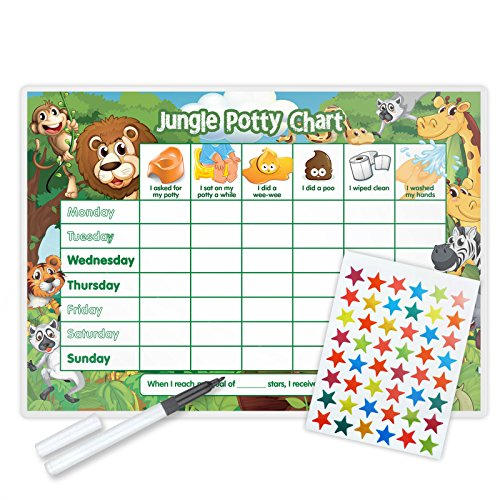 Funky Monkey House Jungle Potty Training Reward Chart (including FREE Star Stickers and Pen) from Funky Monkey House