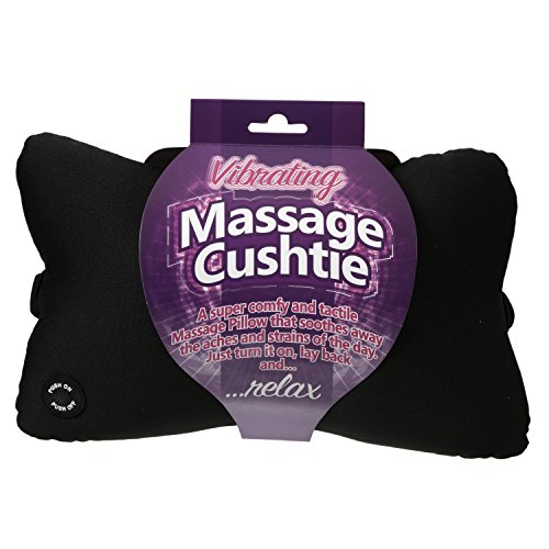 Funtime Gifts Vibrating Massage Cushtie, Synthetic, Black, 28 x 12 x 19 cm from Funtime Gifts