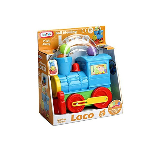 Pushalong Ball Blowing Loco Train Toy- Suitable From 12 Months from Funtime