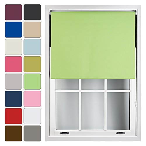 FURNISHED Blackout Roller Blind Made to Measure 14 Sizes 16 Colours Lime Green Up To 240cm from FURNISHED