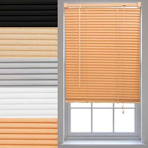 FURNISHED PVC Venetian Window Blinds Made to Measure Home Office Blind New - Teak 60cm x 210cm from FURNISHED