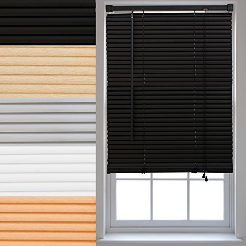 FURNISHED PVC Venetian Window Blinds Made to Measure Home Office Blind New - Black 165cm x 150cm from FURNISHED