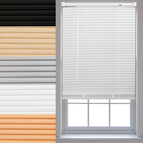FURNISHED PVC Venetian Window Blinds Made to Measure Home Office Blind New - White 90cm x 210cm from FURNISHED