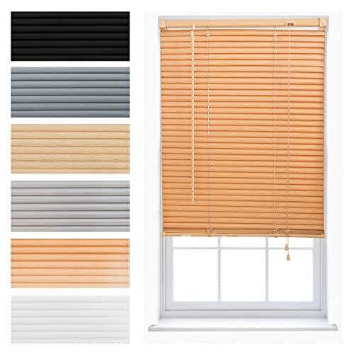 FURNISHED PVC Venetian Window Blinds Trimmable Home Office Blind New - Teak 210cm x 150cm from FURNISHED