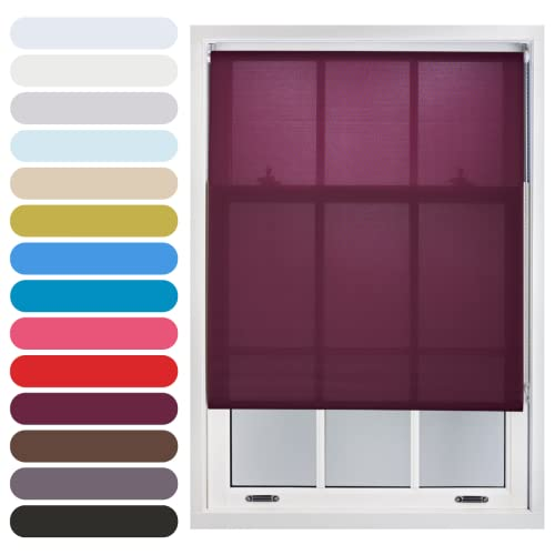 FURNISHED Daylight Roller Blind Trimmable, Aubergine, 150cm x 165cm from FURNISHED