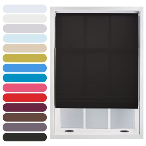 FURNISHED Daylight Roller Blind Trimmable, Black, 150cm x 165cm from FURNISHED