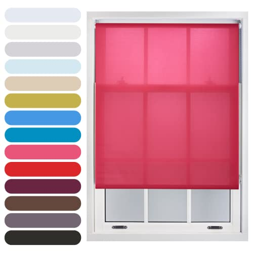 FURNISHED Daylight Roller Blind Trimmable, Fuchsia, 120cm x 165cm from FURNISHED