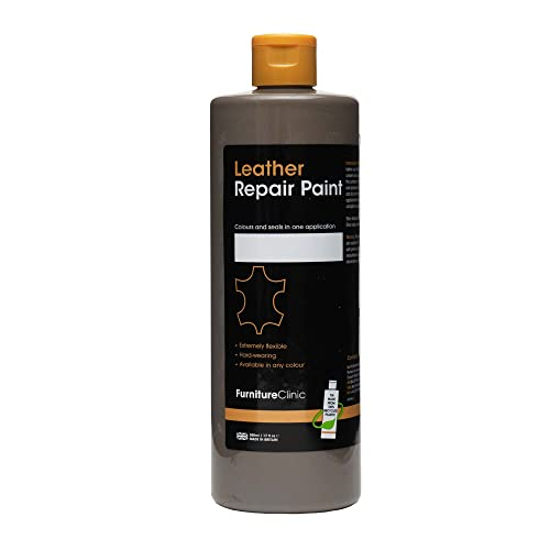 Furniture Clinic Leather Repair Paint & Dye | Over 30 Colours & Shades | Self Seal Colourant for Leather Sofas, Leather Suites, Jackets, Chairs, Shoes, Bags and more (50ml, Dark Beige (B04)) from Furniture Clinic
