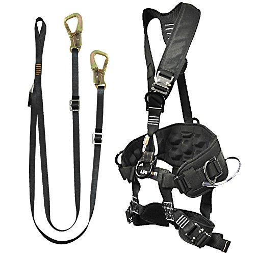 Fusion Climb Pro Backyard Zip Line Kit Harness Lanyard Bundle FK-A-HL-11 from Fusion Climb