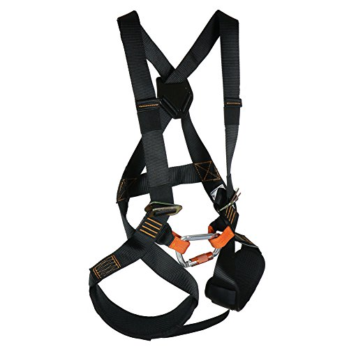 Fusion Climb Warrior Kids Full Body Climbing Rope Course Harness Black from FUSION