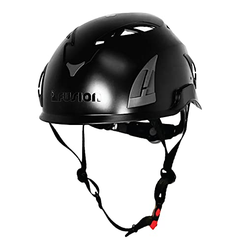 Fusion Climb Meka Climbing Bungee Zipline Mountain Construction Safety Protection Helmet Black from FUSION