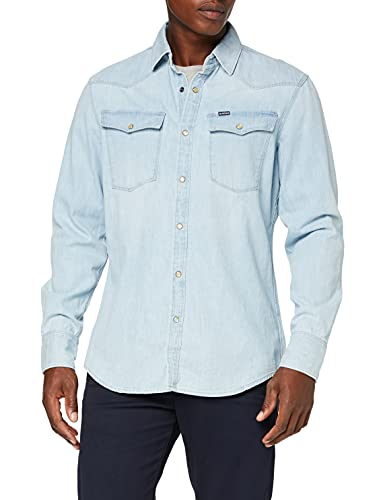 G-STAR RAW Men's 3301 Slim Shirt Denim, Blue (lt Aged 424), X-Large from G-STAR RAW