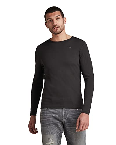 G-STAR RAW Men's Base R T L/S 1-Pack Long Sleeve Top, Black (Black 990), Large from G-STAR RAW