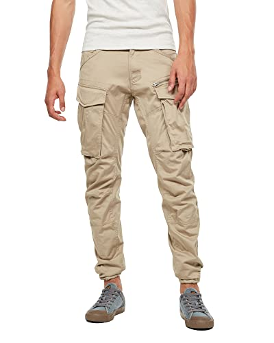 G-STAR RAW Men's Rovic Zip 3D Straight Tapered Trousers, Beige (dune 5126-239), 38W / 36L from G-STAR RAW