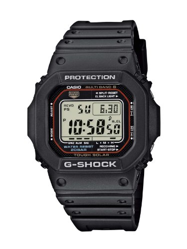 Casio G-Shock Unisex Watch in Resin with Solar Power and Snooze Feature - Rectangular Shaped & Water Resistant from Casio