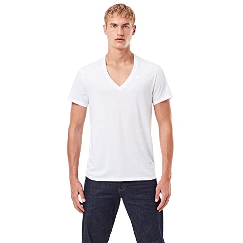 G-Star RAW Men's T-Shirt, White (White Solid 2020), Small from G-STAR RAW