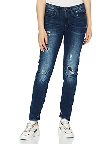 G-STAR RAW Women's Arc 3D Boyfriend Jeans, Blue (Dark Aged Restored 106), W26/L34 from G-STAR RAW