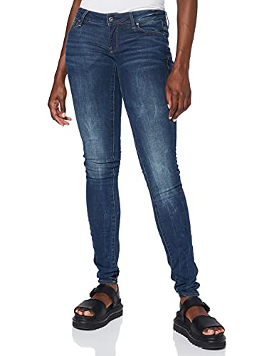 G-Star Women's 3301 Low Skinny Jeans, Blue, W28/L30 from G-Star RAW