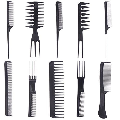10pcs Professional Salon Hair Styling Hairdressing Hairdresser Barbers Combs Set from IIOOII