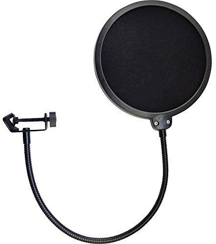Heavy Duty Easy Use Microphone Swivel Pop Filter Double Layer Sound Shield Guard from G4GADGET