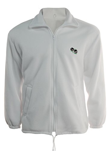G5 Apparel Bowls Lawn Bowling Unisex Zipper Polar Fleece Jacket with Logo (3XL) White from G5 Apparel
