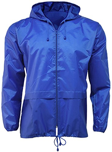 Lightweight Unisex Cagoule Kagool: L, Royal Blue from G5 Apparel