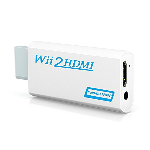 Wii to HDMI Adapter, GANA Wii to HDMI Converter Connector with 1080p/720p Video Output and 3.5mm Audio - Supports All Wii Display Modes (wii to hdmi white) from GANA