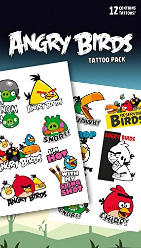 "GB Eye""Angry Birds, Phrases"" Tattoo Pack, Multi-Colour from GB Eye Limited"
