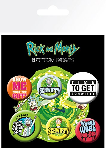 GB Eye LTD, Rick and Morty, Quotes, Badge Pack from GB eye