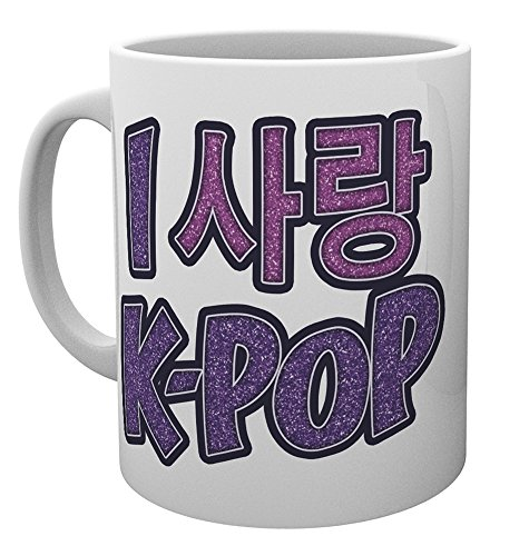 GB Eye Limited MG3320 K-Pop Love Hangul Mug, Multi-Colour from GB Eye Limited