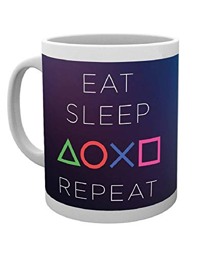 GB Eye, Playstation, Eat Sleep Repeat, Mug, Wood, Various, 15x10x9 cm from GB Eye
