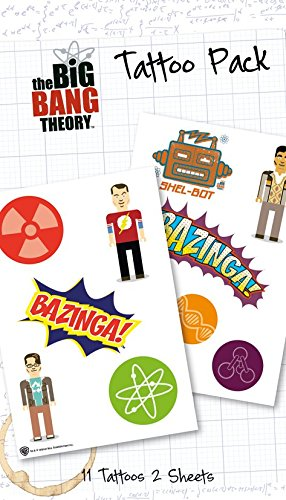 "GB Eye""The Big Bang Theory, Bazinga"" Tattoo Pack, Multi-Colour from GB Eye Limited"