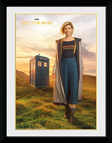 GB eye 13th Doctor Framed Print, Wood, Various, 33 x 44 x 3 cm from GB Eye Limited
