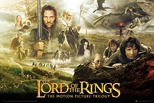 GB eye LTD, Lord of The Rings, Trilogy, Maxi Poster, 61 x 91.5 cm, Wood, Multi-Colour from GB Eye Limited