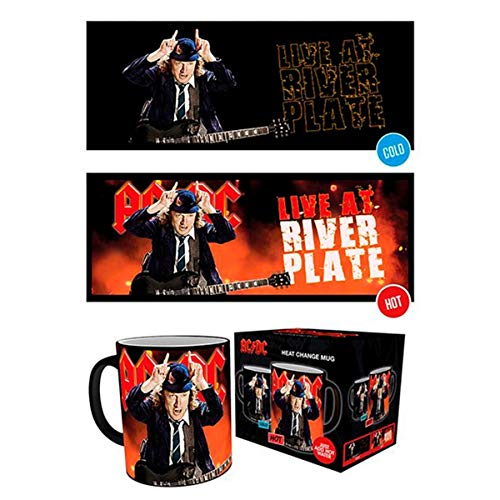 GB eye, AC/DC, Live, Heat Changing Mug, Ceramic, Various, 15 x 10 x 9 cm from GB eye