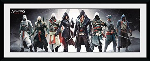 GB eye LTD, Assassins Creed, Characters, Framed Print 30x75cm, Wood, Multi-Colour, 79 x 44 x 3 cm from GB eye