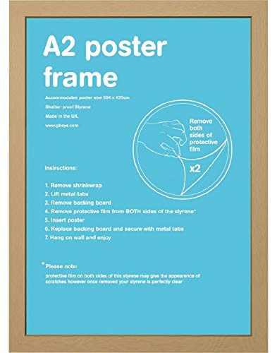 GB eye LTD, Oak Frame-A2, 42 x 59.4cm-Eton, Wood, 42x59.4 cm from GB Eye Limited