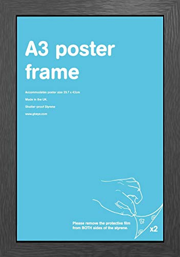 GB eye LTD, Black Frame-A3 Styrene, 29.7x42cm-Eton, Wood, 45 x 35 x 3 cm from GB eye