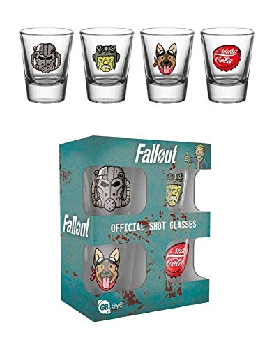 GB eye LTD, Fallout 4, Icons, Shot Glasses, Multi-Colour, 10 x 12 x 4.5 cm from GB Eye Limited