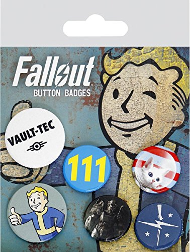 GB eye Ltd, Fallout 4, Mix, Badge Pack, Aluminum, Various, 14x0.3x10 cm from GB eye
