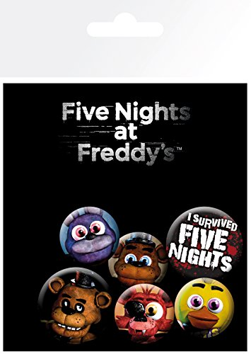 GB eye Five Nights at Freddys Mix Badge Pack, Aluminum, Multi-Colour, 14 x 0.3 x 10 cm from GB eye