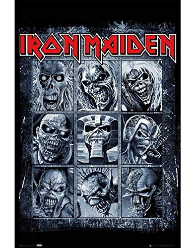 "GB eye""Iron Maiden Eddies"" Maxi Poster, Various, 61 x 91.5 cm from GB Eye Limited"