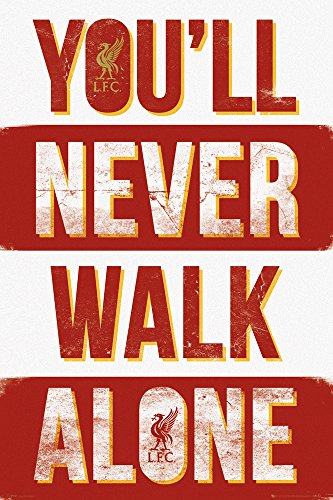 GB eye Liverpool You'll Never Walk Alone Type Maxi Poster, Wood, Multi-Colour, 61 x 915 cm from GB Eye Limited