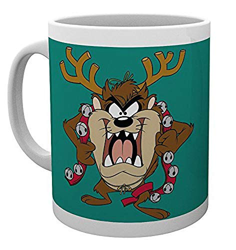 GB eye LTD, Looney Tunes, Taz Christmas, Mug, Wood, Various, 15 x 10 x 9 cm from GB eye