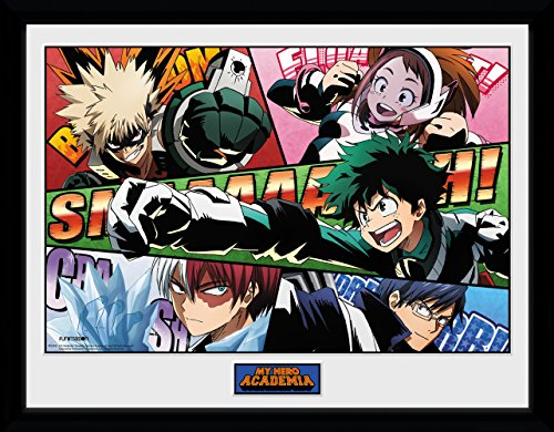 GB eye LTD, My Hero Academia, Powers, Framed Print 30x40cm, Wood, Various, 52 x 44 x 3 cm from GB eye