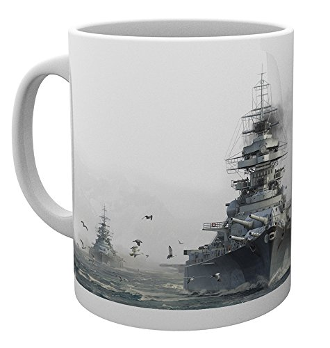 GB eye LTD, World of Warships, Bismark, Mug, Wood, Various, 15 x 10 x 9 cm from GB eye