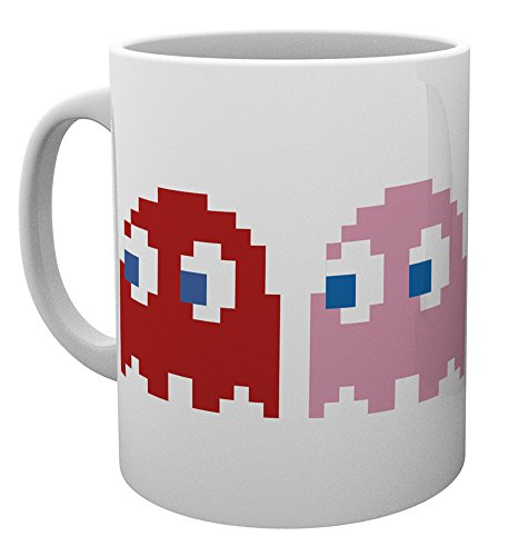 GB eye Pacman Ghosts Mug, Wood, Multi-Colour from GB Eye Limited