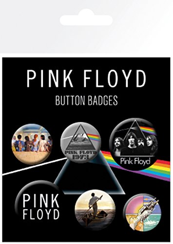 "GB eye"" Pink Floyd, Mix Badge Pack, Aluminum Multi-Colour, 14 x 0.3 x 10 cm from GB Eye Limited"