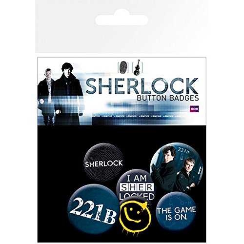 GB eye LTD, Sherlock, Mix, Badge Pack, Aluminum, Multi-Colour from GB eye