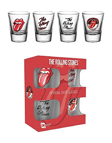 GB eye LTD, The Rolling Stones, Mix, Shot Glasses, Multi-Colour, 10 x 12 x 4.5 cm from GB eye